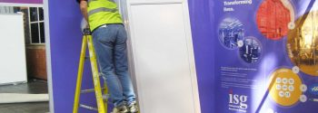 CIH Exhibition 2017 stand build Manchester